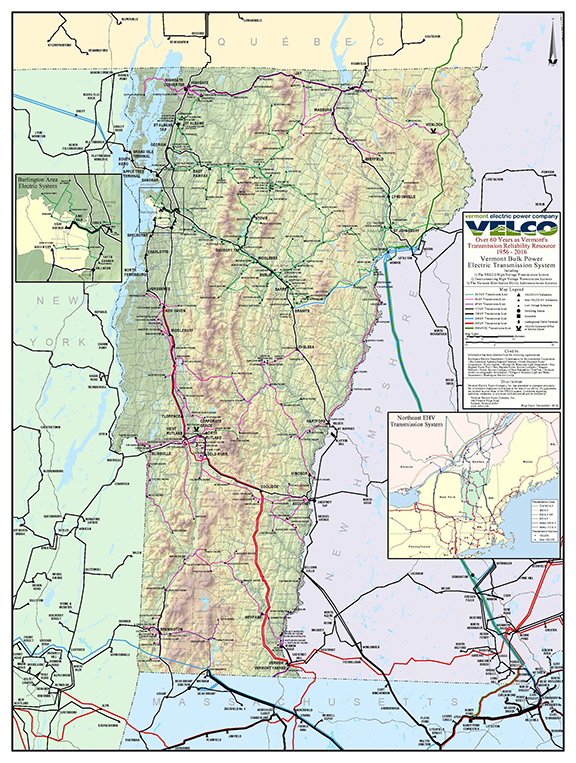 VELCO system map