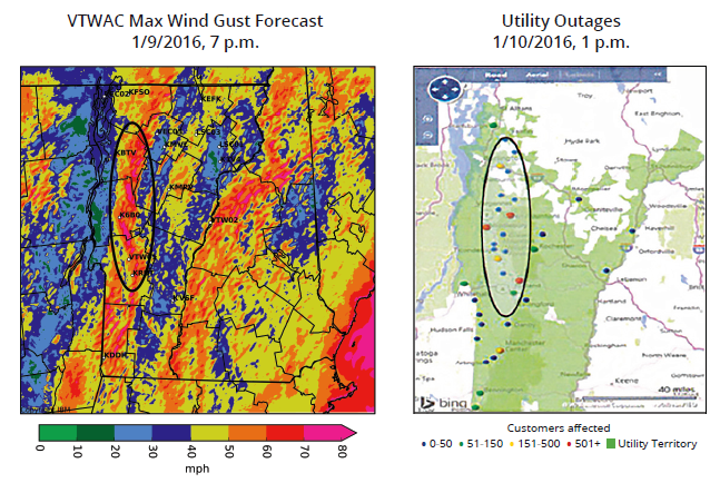 VTWAC accurately predicts high winds in recent storm