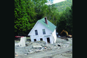 House destroyed by Tropical Storm Irene